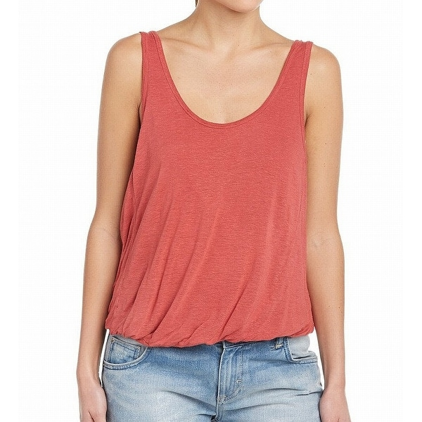 We The Free Washed Red Womens Size Medium M Tank Double Bubble Top