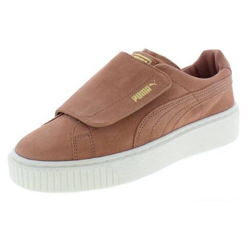 Puma Womens Platform Strap Casual Shoes Suede Low Top
