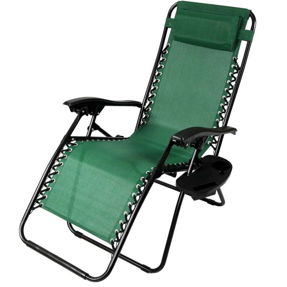 Sunnydaze Zero Gravity Lounge Chair with Pillow and Cup Holder, Multiple Colors Available - Thumbnail 35