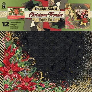 "Hot Off The Press Double-Sided Paper Pack 12""X12"" 12/Pkg-Christmas Wonder"
