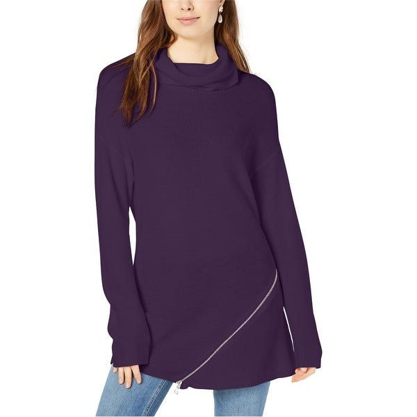 Bar Iii Womens Zipper Tunic Sweater. Opens flyout.