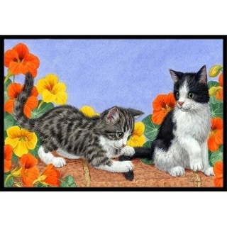 Carolines Treasures ASA2201MAT Kittens on Wall Indoor or Outdoor Mat 18 x 27