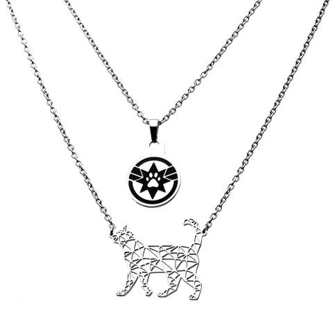 Marvel Captain Marvel Goose Silver 2 Tiered Pendant Necklace - Multi
