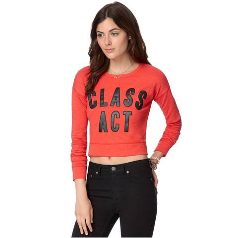 Aeropostale Womens Cropped Class Act Pullover Sweater