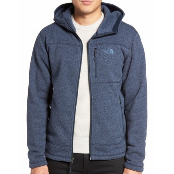 905a8c1f9 The North Face NEW Blue Mens Size Large L Heather Hooded Fleece Jacket