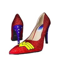 Wonder Woman Logo Adult Costume Heels