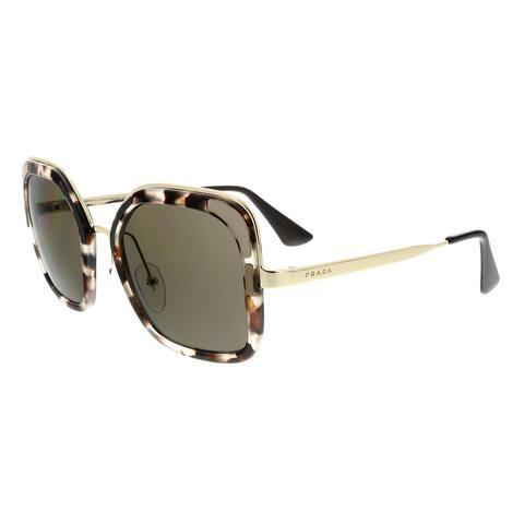 6eb23a07741a Prada PR57US UAO5S2 CATWALK Spotted Opal Beige Square Sunglasses - 54-22-140