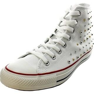 Converse Chuck Taylor Hi Women Round Toe Canvas White Sneakers
