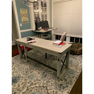 Avenue Greene Woodgate L-Shaped Desk with Lift Top