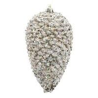Silver Glitter Pinecone