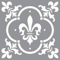 """Fleur De Lis Tile - Americana Decor Stencil 12""""X12"""""""