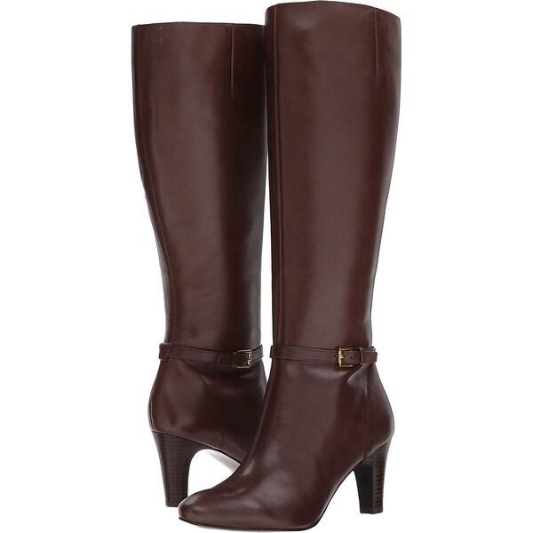 e4e5a2957e9 Shop LAUREN by Ralph Lauren Womens Sandie Leather Pointed Toe Knee ...