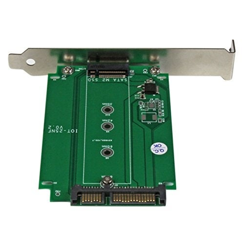 Startech M.2 To Sata Expansion Slot Mounted Ssd Adapter - Ngff Solid State Drive To Sata Converter - Pci Or Pci-Expr