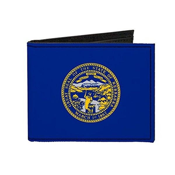 Buckle-Down Canvas Bi-fold Wallet - Nebraska Flag Accessory