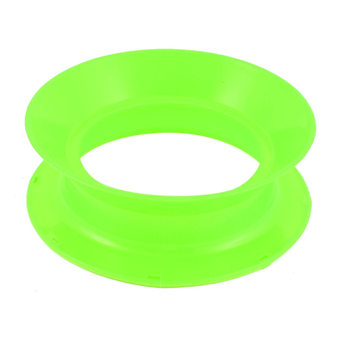 Plastic Fish Line Wire Bearing Fishing Spinning Reel Wheel 7 Inch Dia Green