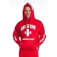 Official Lifeguard Guys Virginia Beach Hoodie Red X-Large
