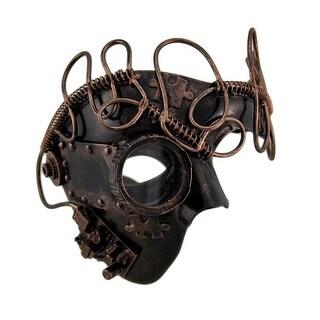 Metallic Steampunk Monocle One Eye Mask