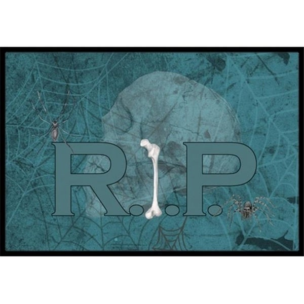 Carolines Treasures SB3004MAT 18 x 27 in. RIP Rest in Peace with spider web Halloween Indoor Or Outdoor Mat