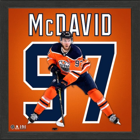 Connor McDavid Impact Jersey Frame - 13x13
