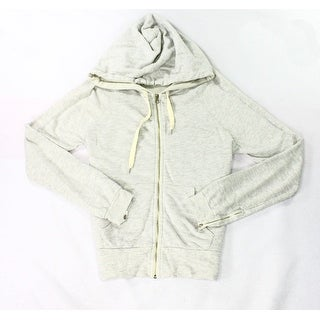 Ever NEW Light Gray Mens Size Small S Hooded Heather Full Zip Sweater
