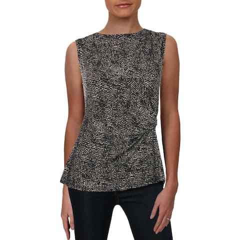 Anne Klein Womens Tank Top Pebble Dot Suit Separate
