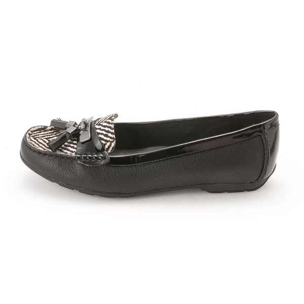 Anne Klein Womens OATES Leather Closed Toe Loafers