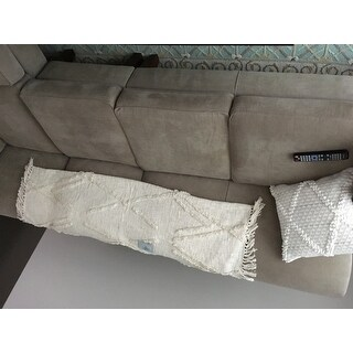 LR Home Moroccan Beige Natural Cotton Couch Throw Blanket
