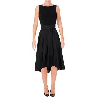 Lauren Ralph Lauren Womens Petites Cocktail Dress Hi-Low Sleeveless