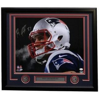 Rob Gronkowski Signed Framed 16x20 New England Patriots Stare Photo JSA