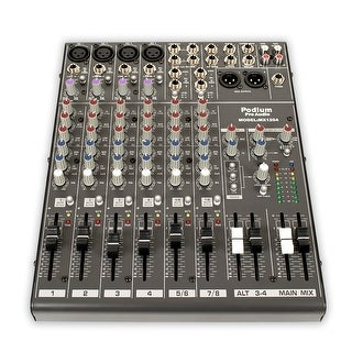 Podium Pro MX1204 Mixer 12 Channel Pro Audio Mic / Line Stereo Mixing Console