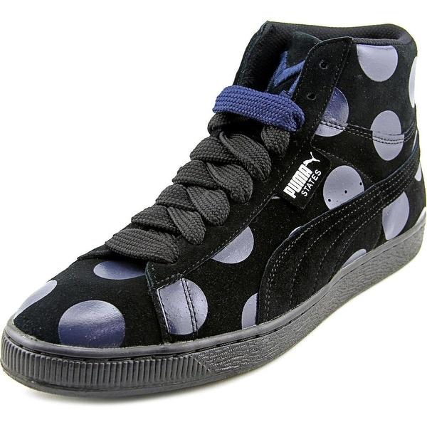 Puma States Mid X Vashtie Pois Men Round Toe Suede Black Sneakers