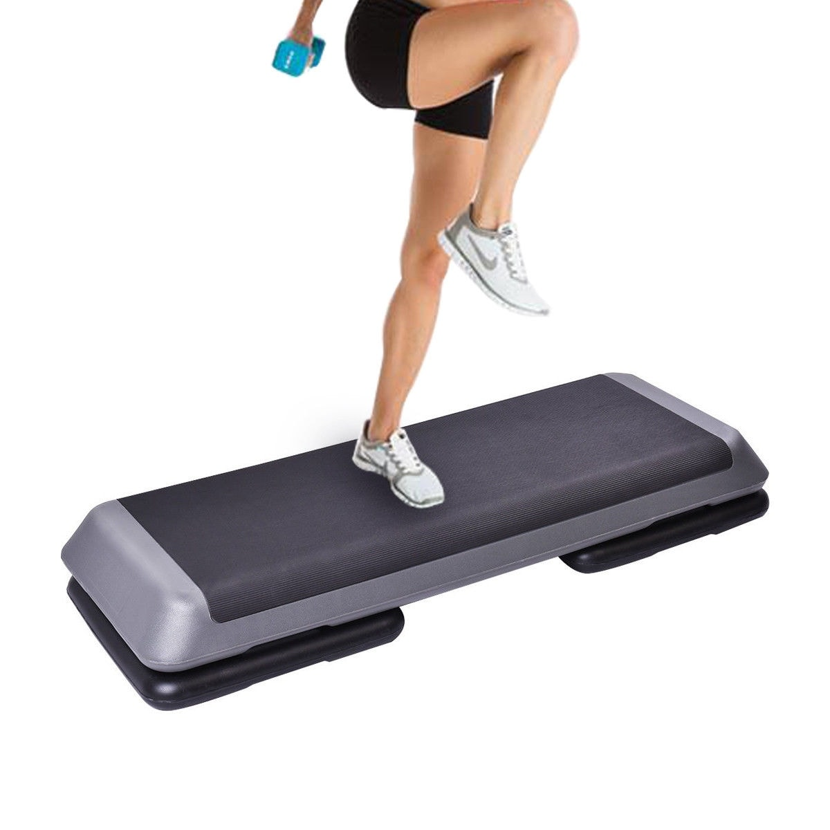 Best Choice Products Height Adjustable 43 Aerobic Step Platform Cardio Fitness Exercise Stepper 4-6-8 Risers