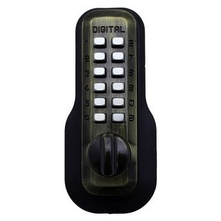 Lockey M210EZ Adjustable Mechanical Deadbolt with No Drilling Required from the M200 Series