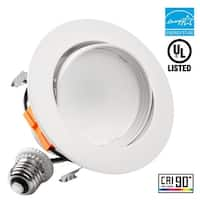 1/4 PACK 4 Inch LED Dimmable Gimbal Recessed Retrofit Downlight,3000K/5000K