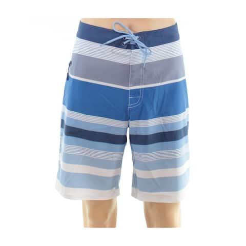 Vineyard Vines Mens Shorts Blue Size 34 Stripe Print Pocket Board Surf