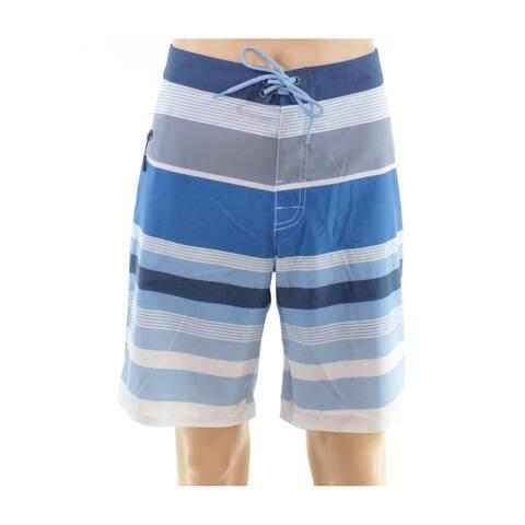 Vineyard Vines Mens Shorts Blue Size 36 Stripe Print Pocket Board Surf