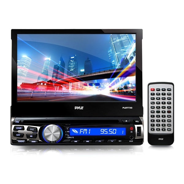 "Pyle 7"" Flip-Out Single Din DVD Receiver with GPS and Bluetooth"