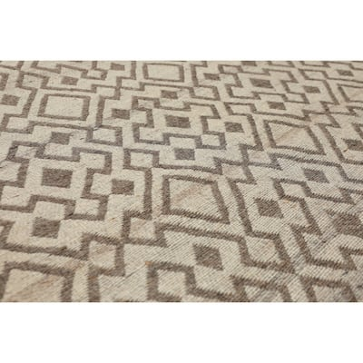 "Hand Woven Beige,Brown Flatweave Area Rug Polypropylene Modern & Contemporary Oriental Area Rug (5x7) - 5'1"" x 6'4"""