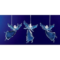 Club Pack of 36 Icy Crystal Religious Christmas Dancing Angel Ornaments 3.5""