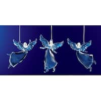 "Club Pack of 36 Icy Crystal Religious Christmas Dancing Angel Ornaments 3.5"" - CLEAR"