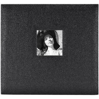 "Mbi Expressions Post Bound Album W/Window 12""X12""-Glitter Black Diamond"