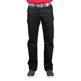 Brooklyn Xpress Men's Belted Fashion Jeans