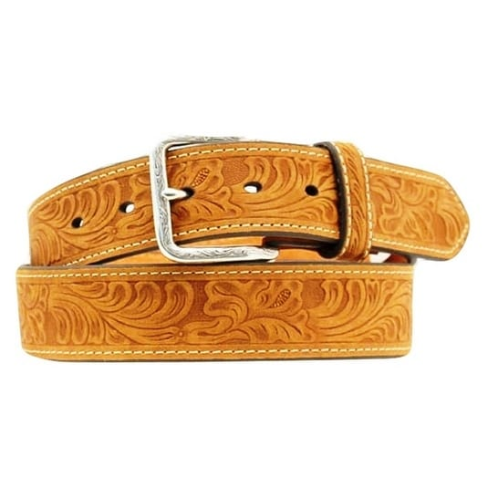 Nocona Western Belt Mens Leather Country Embossed Brown