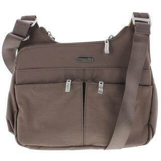Baggallini Womens Organizational Adjustable Crossbody Handbag - Mushroom - Medium