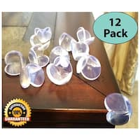 EliteBaby Clear Table Corner Guards, 12 Pack, Baby Proof Corners and Childproofing, Baby Corner and Edge Protector Bumpers