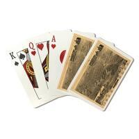 Muskegon, Michigan - Panoramic Map (Poker Playing Cards Deck)