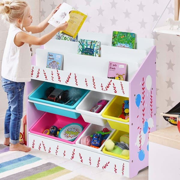 Shop Costway Kids Toy Storage Organizer Children Storage ...