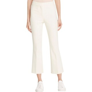 Theory Womens Erstina Ankle Pants Flat Front Textured