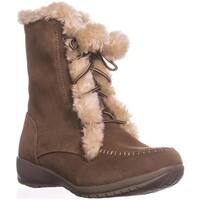 Sporto Maggie Lined Winter Boots, Chestnut - 7 us