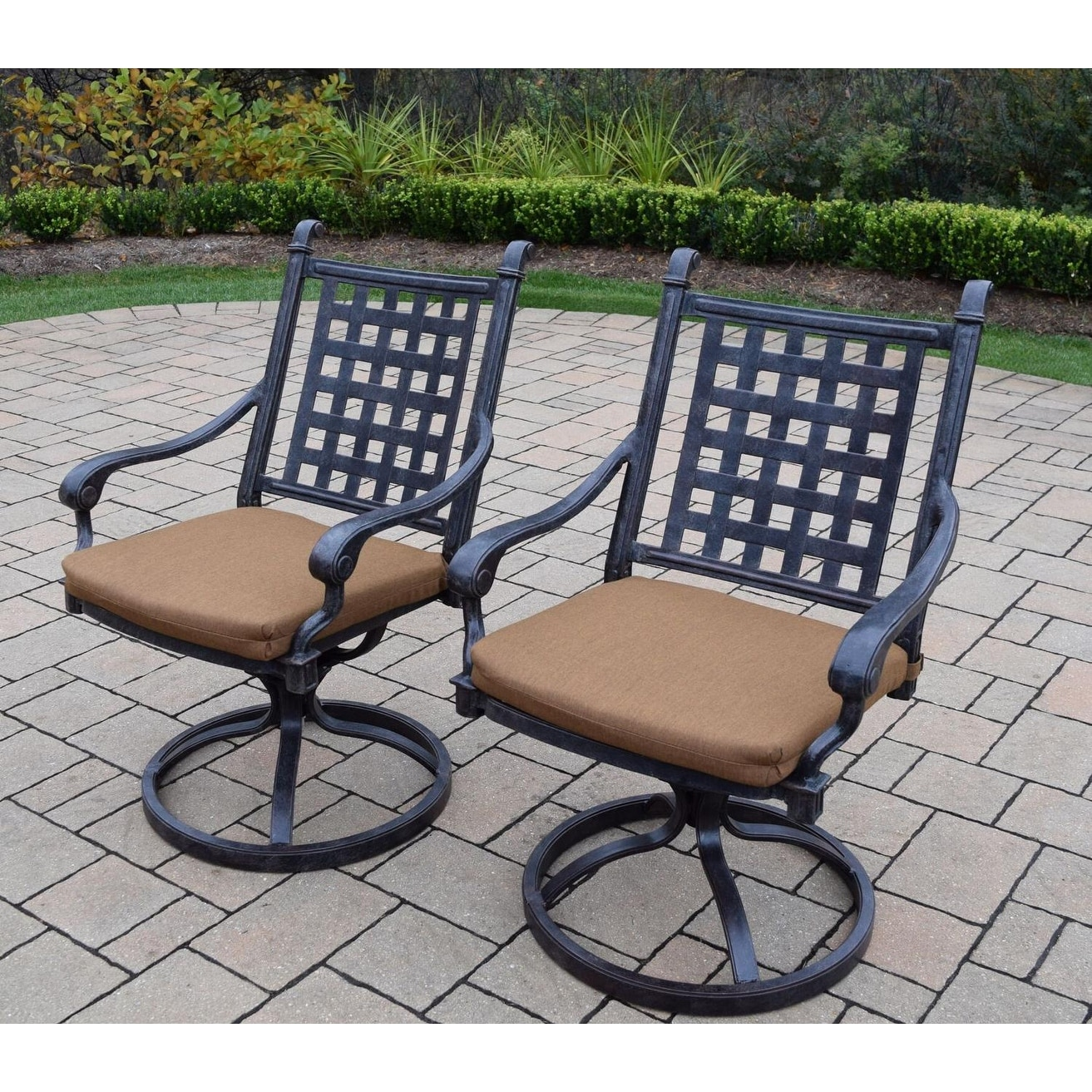 Aluminum Outdoor Patio Swivel Chairs